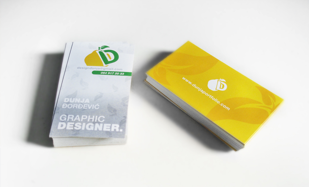 My logo and business cards dunjaportfolio share colourmoves Images