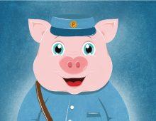 Mr. Piggy Postman
